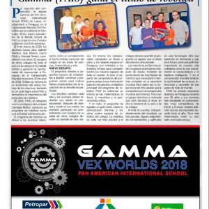 The Gamma Team going to VexWorlds Championship to represent Paraguay for second year! GoGamma