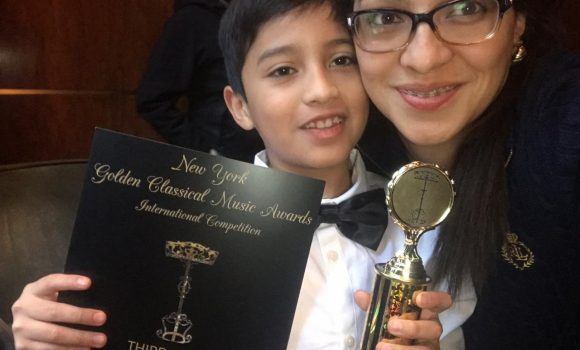 Third Prize in Golden Classical Music Awards for Mario Sebastian Silvestre Hernandez